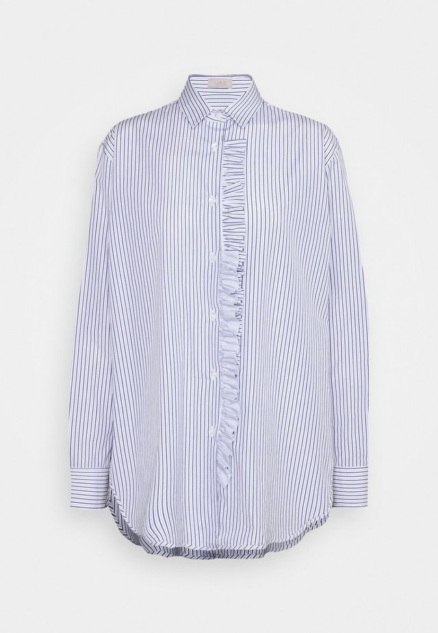 Button-down blouse - sky blue / light blue / white