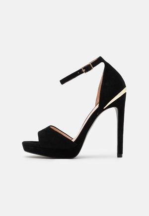 LEATHER - High heeled sandals - black