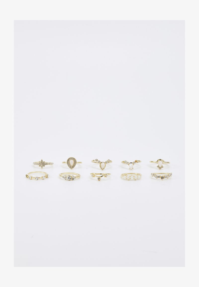 Pieces - PCHARRINA 9 PACK - Anello - gold color