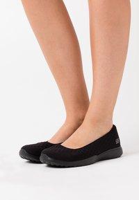 Skechers Wide Fit - MICROBURST - Ballet pumps - black/charcoal - 0