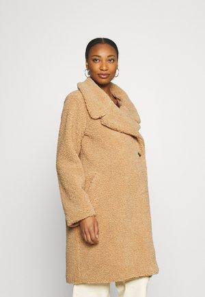 COAT FURRY - Winter coat - ginger root