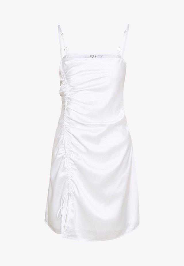 DRAWSTRING DRESS - Juhlamekko - white