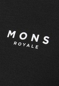 Mons Royale - CADENCE HALF ZIP - Triko spotiskem - black - 2