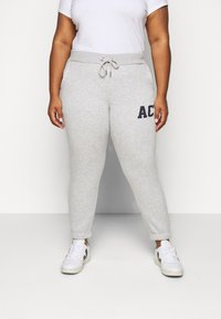 Pieces Curve - PCLARA PANTS - Pantaloni sportivi - light grey melange - 0