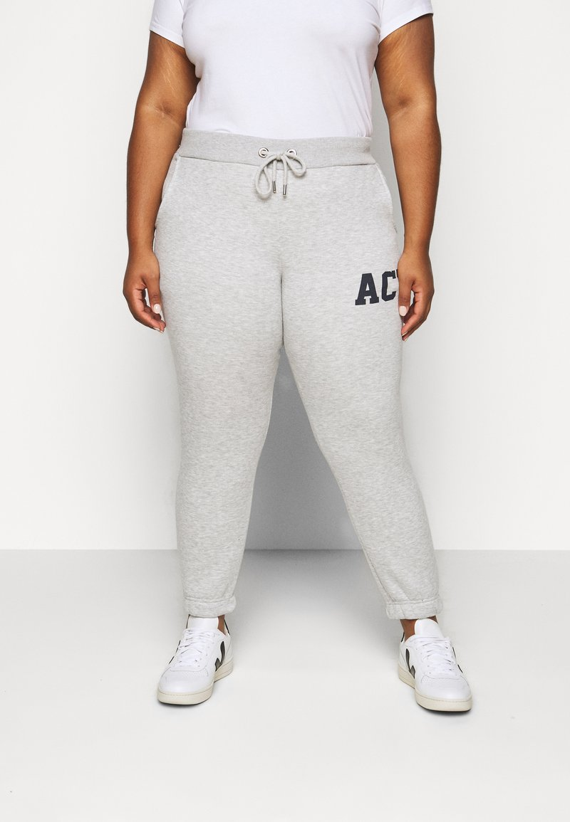 Pieces Curve - PCLARA PANTS - Pantaloni sportivi - light grey melange