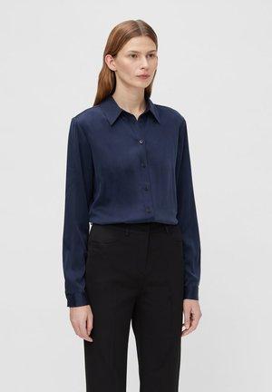 MALLORY SILK - Button-down blouse - jl navy