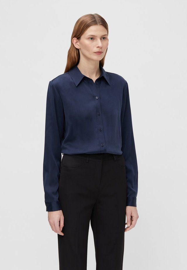 MALLORY SILK - Button-down blouse - jl navy