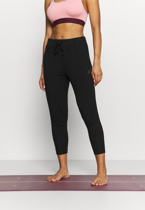 7/8 PANTS - Tracksuit bottoms - black