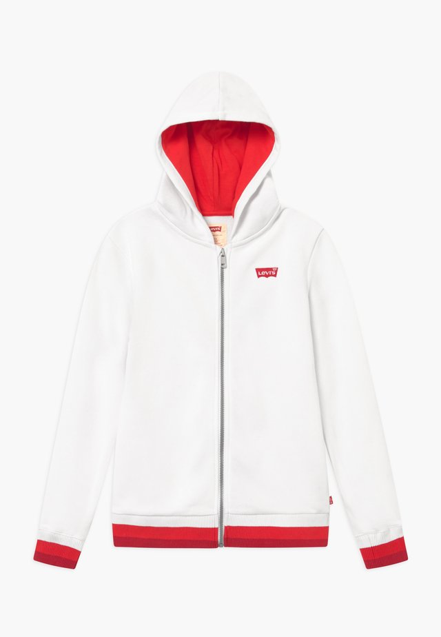 FULL ZIP HIGH RISE HOODIE - veste en sweat zippée - white
