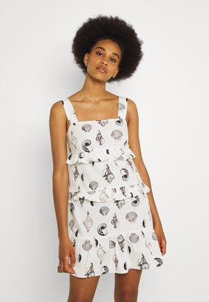 TIERED SHELL MINI DRESS - Day dress - multi
