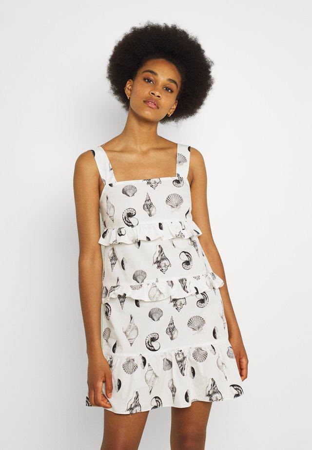 TIERED SHELL MINI DRESS - Korte jurk - multi