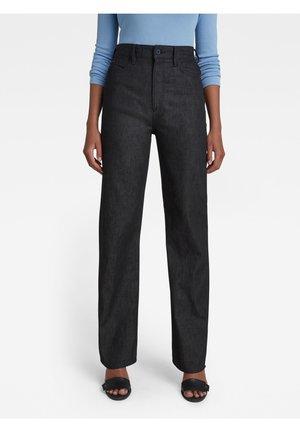 TEDIE ULTRA HIGH STRAIGHT - Straight leg jeans - pitch black