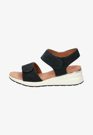 Platform sandals - ocean nubuc