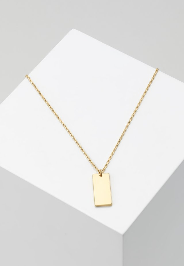 CLEAN TAG DITSY NECKLACE - Smykke - pale gold-coloured