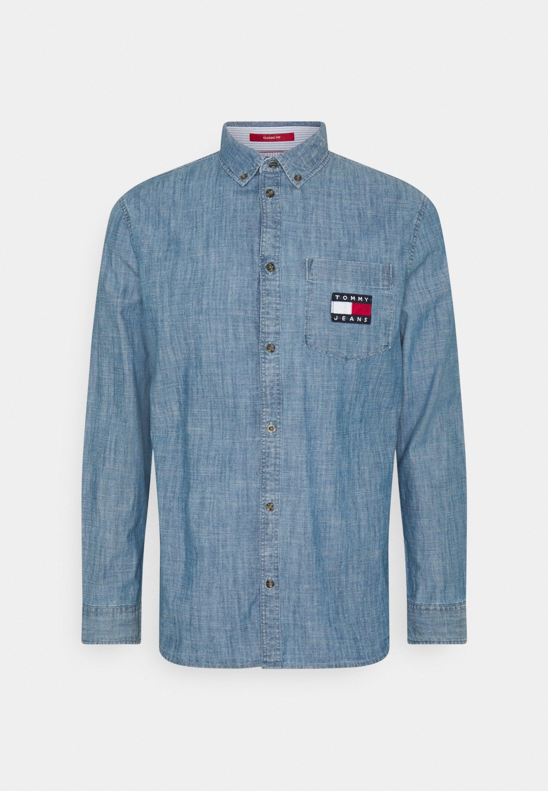 Uomo CHAMBRAY BADGE SHIRT - Camicia