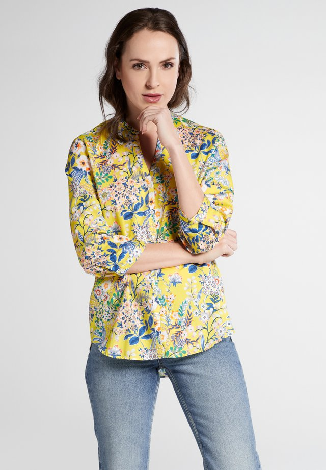 Blouse - yellow/blue/rose