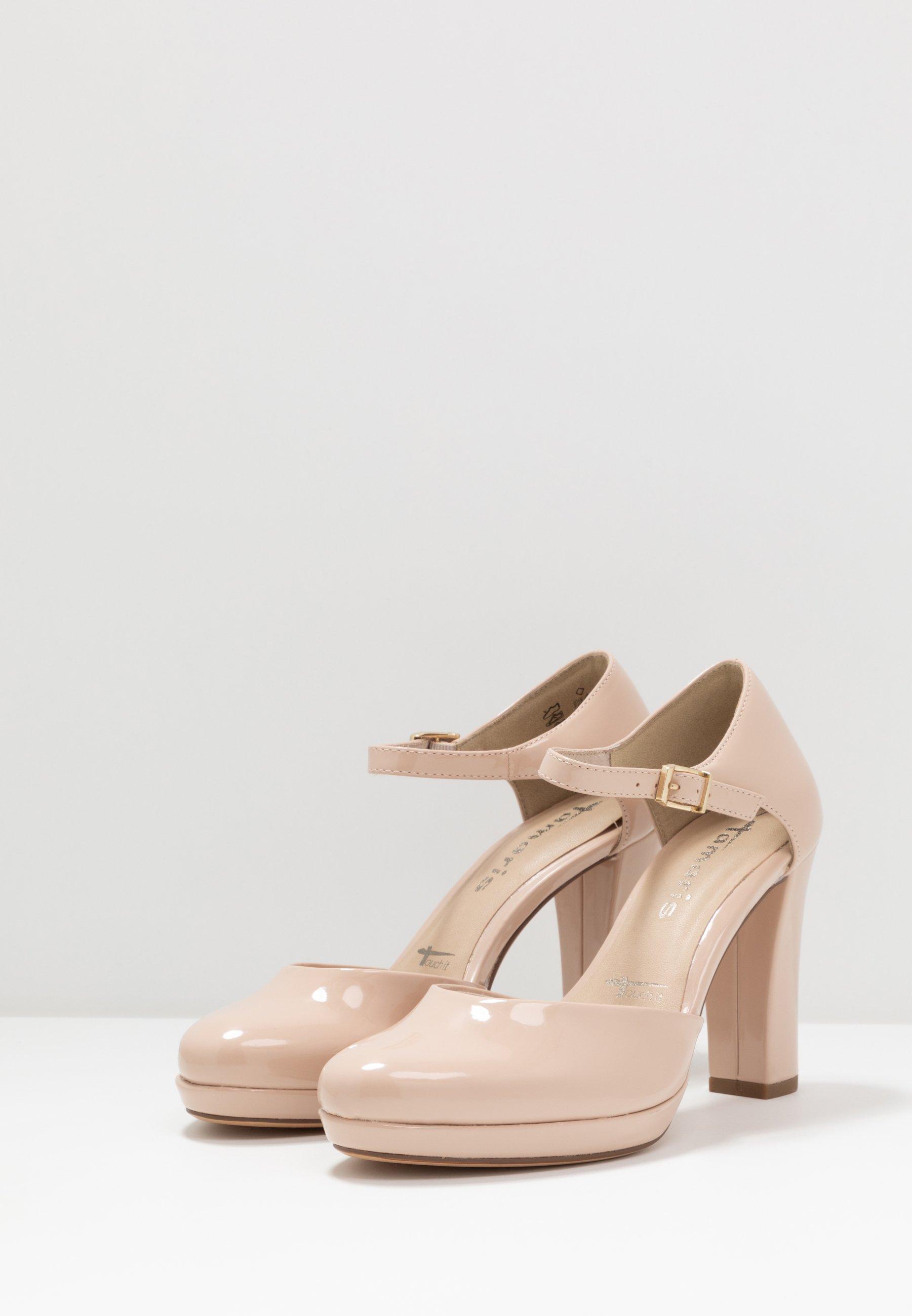 Tamaris Tendencia 22422 Nude Tacón De Plataforma Oculta patente Tribunal Zapatos