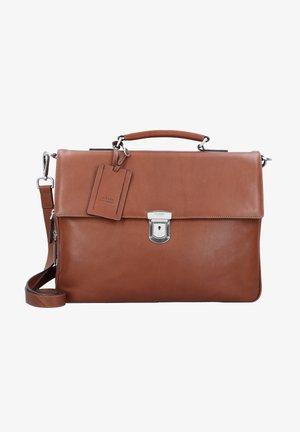 AUTHENTIC  - Briefcase - cognac