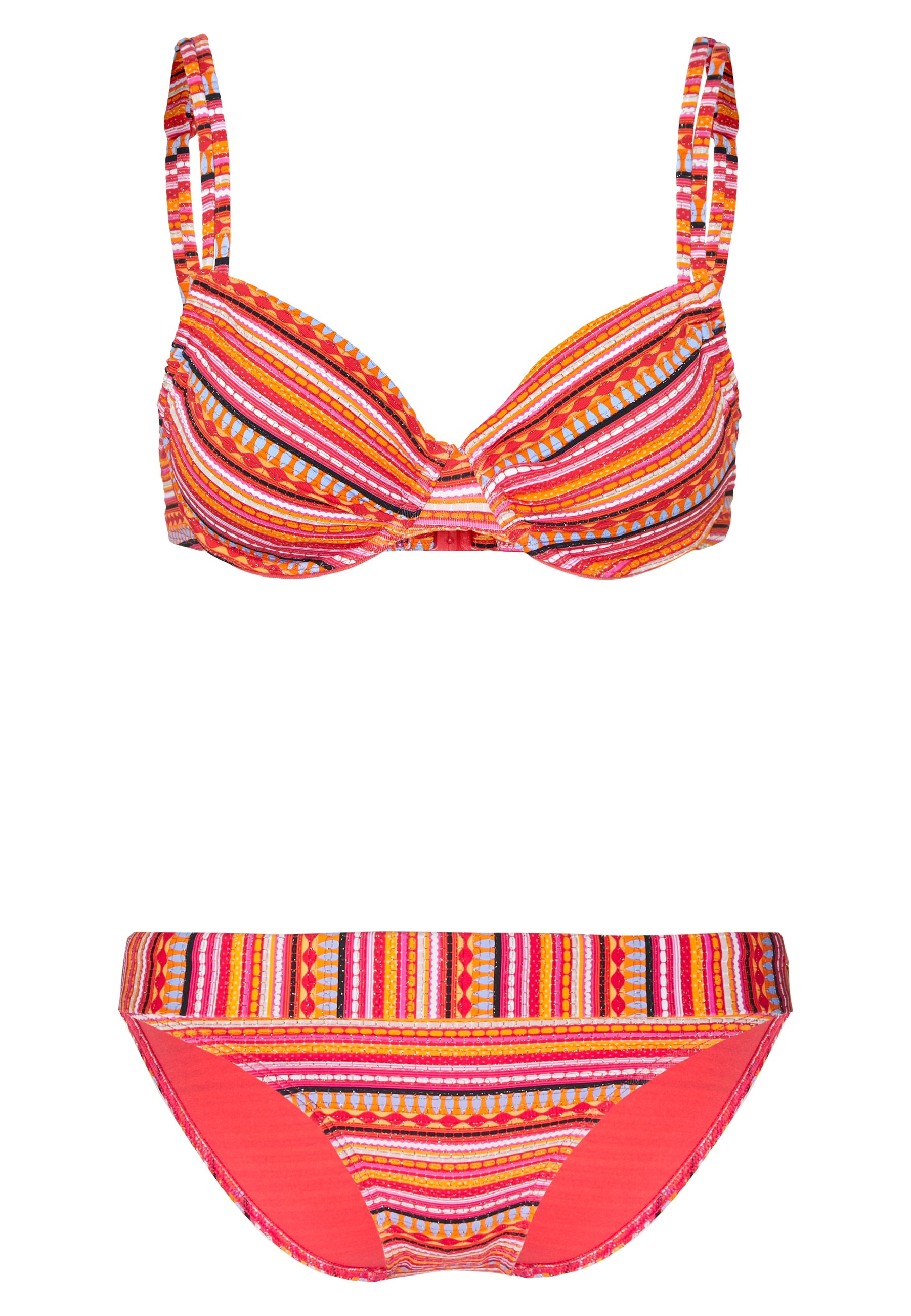 LASCANA WIRE BANDEAU SET - Bikini - orange