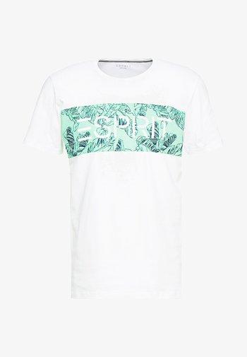 LOGO FLOWE  - Print T-shirt - white