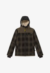Brunotti - CHECK BOYS - Snowboardová bunda - pine grey - 7