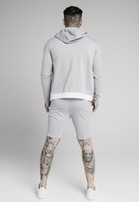 SIKSILK - DUAL STRIPE AGILITY ZIP THROUGH HOODIE - Mikina na zip - grey/white - 2