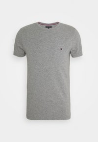 STRETCH SLIM FIT TEE - Basic T-shirt - medium grey heather