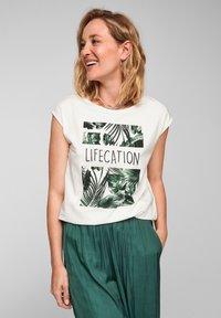 s.Oliver BLACK LABEL - Print T-shirt - white placed print - 0