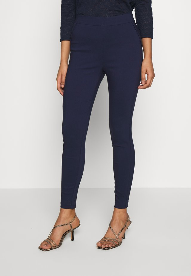 MOCK POCKET DETAIL BENGALINE TROUSER - Trousers - navy blue