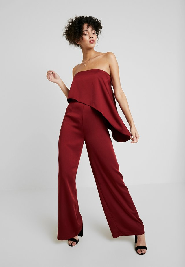 ZOE - Jumpsuit - burgundy