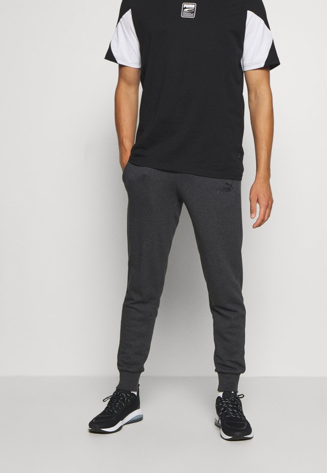 ESS LOGO PANTS - Tracksuit bottoms - dark gray heather