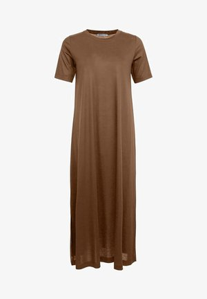 JANNIE - Jerseykleid - brown