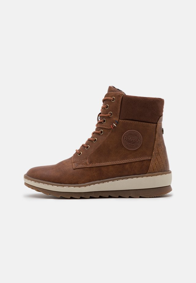Bottines à lacets - camel