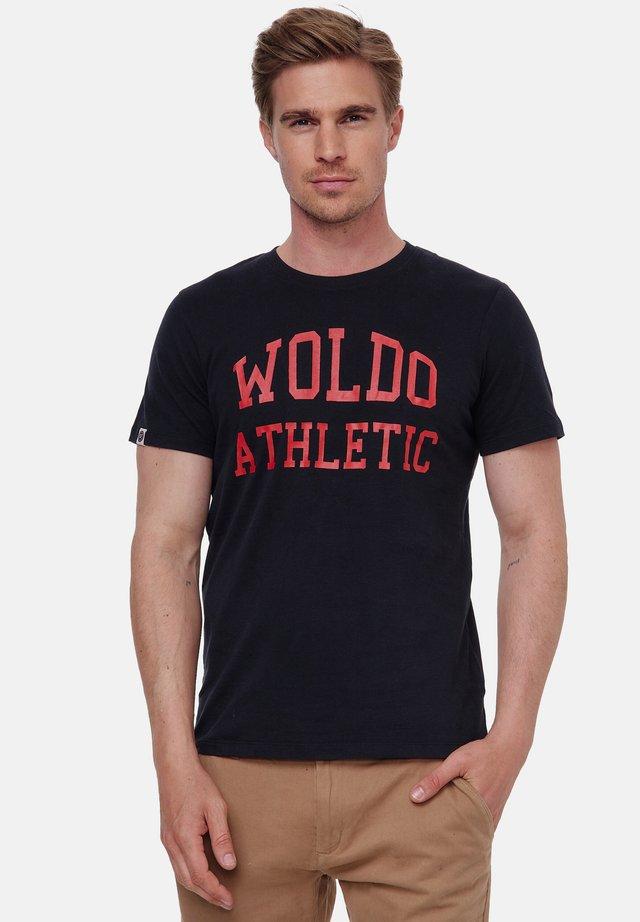T-shirt print - schwarz-rot