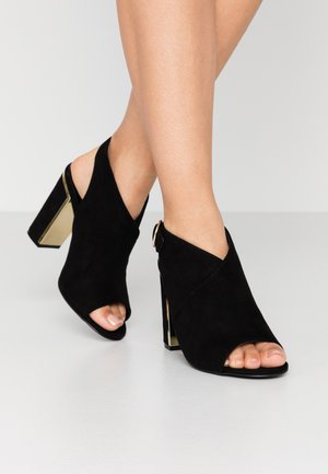 WIDE FIT TIME - High heeled sandals - black