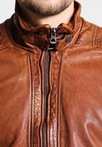 Gipsy - RAMOS - Kožená bunda - cognac - 4