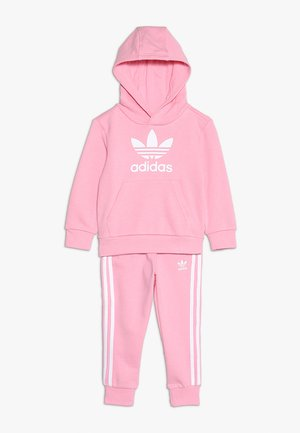 TREFOIL HOODIE SET - Sweat à capuche - light pink/white