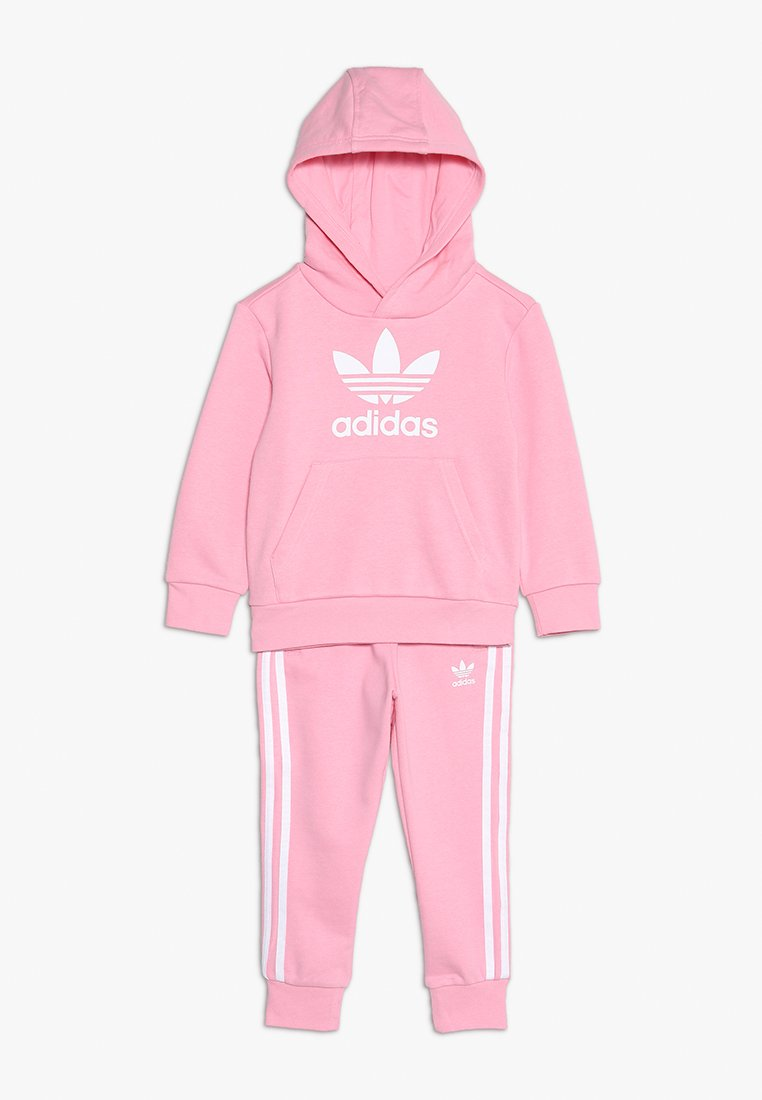 adidas Originals - TREFOIL HOODIE SET - Bluza z kapturem - light pink/white