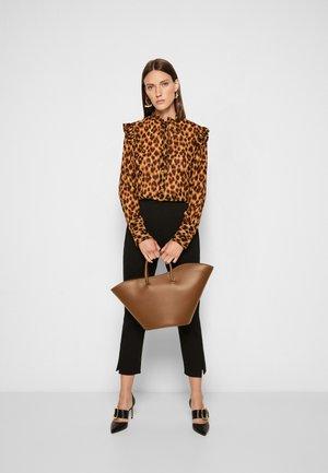 OPEN TULIP TOTE MEDIUM - Shopping bag - khaki