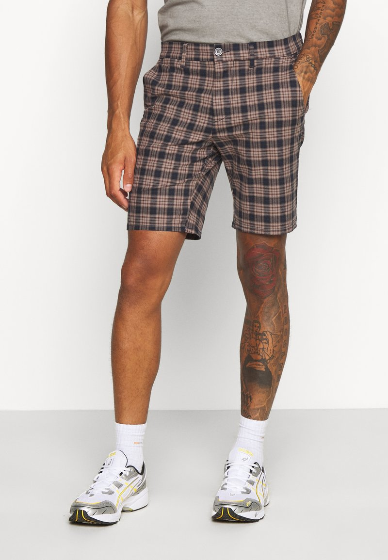 River Island - Shorts - brown/navy