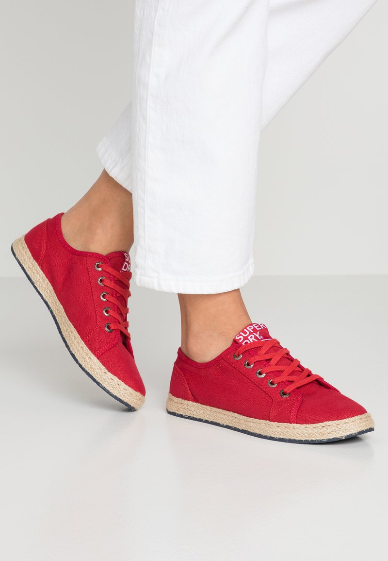 Superdry - LACE UP  - Espadrilles - rouge red