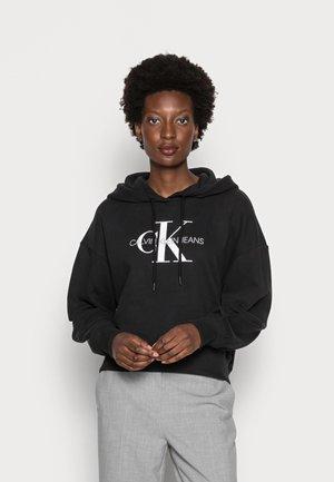 CROPPED HOODIE UPSCALE  - Sweatshirt - black