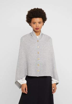 PONCHO WITH BUTTONS - Kapper - light grey