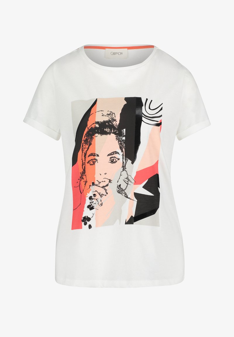 Cartoon - Print T-shirt - blanc/rouge