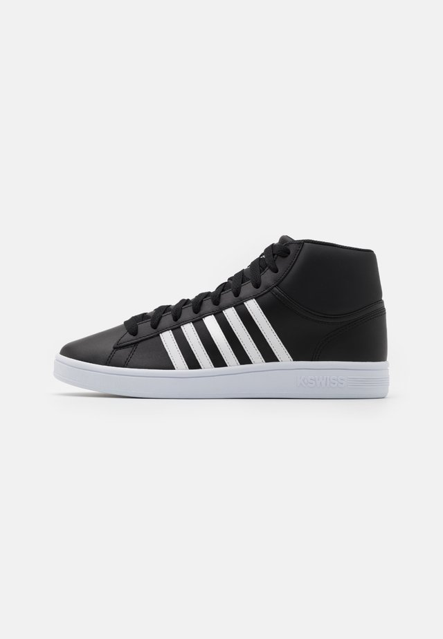 COURT WINSTON MID - High-top trainers - black/white