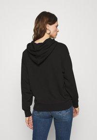 Moss Copenhagen - LOGO HOOD  - Sweatshirt - black/black - 2