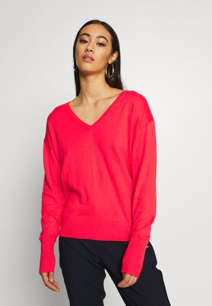 LOOSE WITH NECK - Jumper - watermelon