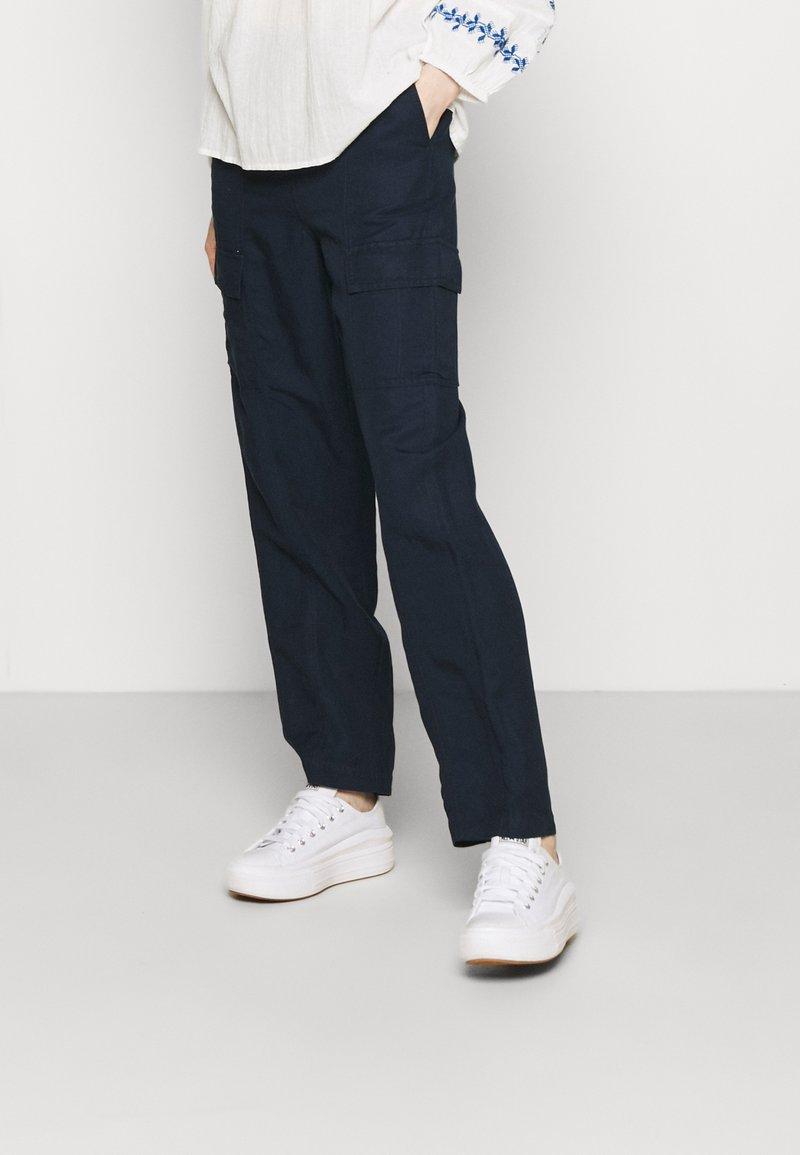 Marks & Spencer London - CARGO - Cargo trousers - dark blue