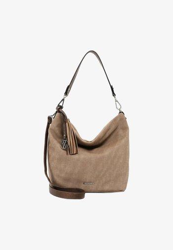 ELKE - Handbag - taupe/taupe