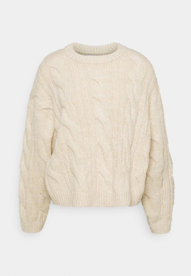 ENJULIUS - Stickad tröja - seedpearl mel